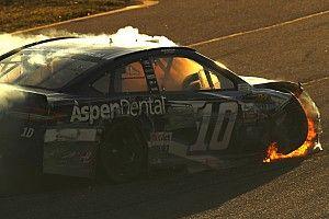 Danica Patrick's tenure with Stewart-Haas Racing ends in flames