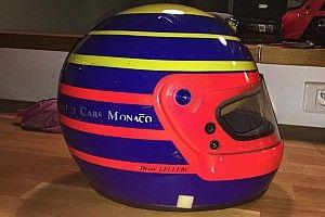 Leclerc svela il casco che userà nelle gare finali di F.2: è un omaggio al padre