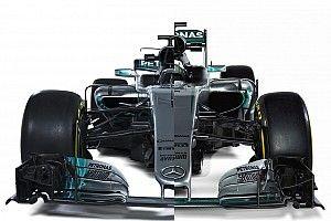 Compare visualmente carros da Mercedes de 2016 e 2017
