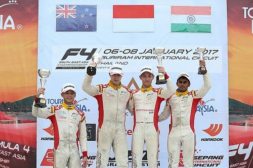 Buriram F4: Gowda takes podium in Race 5 amid difficult day