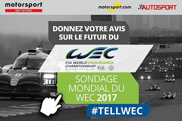 WEC Contenu spécial Participez au Sondage mondial des fans FIA WEC!