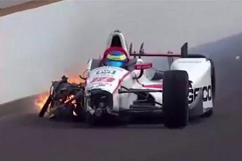 Bourdais ijesztő balesetet szenvedett az Indy 500 első időmérőjén
