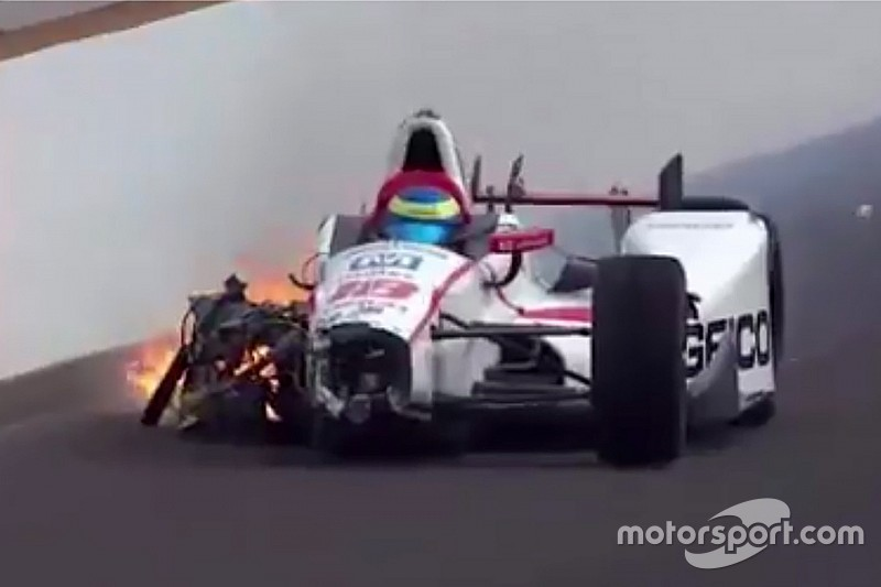 Indy 500: spaventoso incidente a Bourdais durante le qualifiche