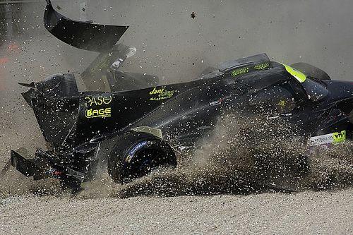 Fotogallery: il brutto incidente di Delomier nei test ELMS di Monza
