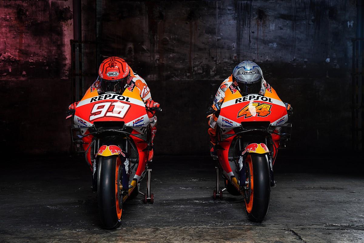 Fotogallery MotoGP: le Honda RC213V 2021 di Marquez ed Espargaro
