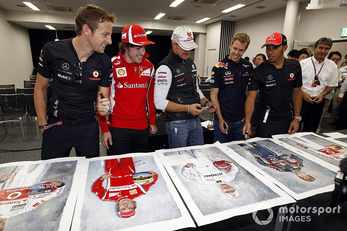 """Button: """"Schumacher, Hamilton'un saf hızına sahip değildi"""""""