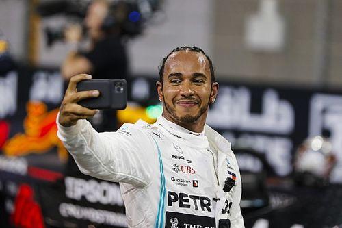 Hamilton comemora pole e espera continuar batalha do GP do Brasil com Verstappen