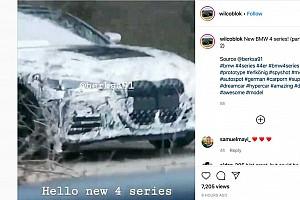 Videó: mozgás közben is elcsípték a méretes hűtőrácsot kapó új 4-es BMW-t