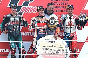 Márquez cierra el año con su 12º triunfo en Valencia