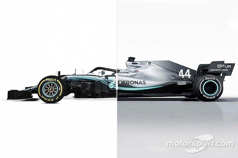 Comparativo Mercedes W09 Vs. Mercedes W10