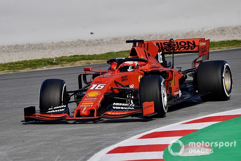 Leclerc tops second F1 test day as Gasly crashes