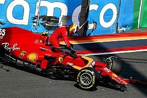 Vídeo: accidente de Carlos Sainz en la FP3 de Zandvoort