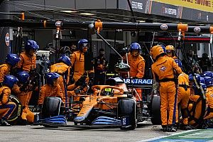 Norris gets reprimand for Russian GP pitlane entry incident