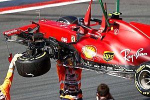 Ошибка Сайнса закончилась разбитой машиной. А пилот и рад!