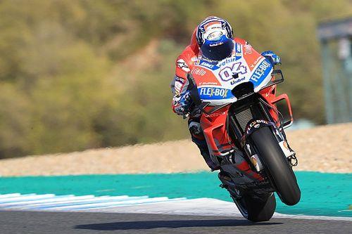 Jerez: Dovizioso et Mir malmenés dans des chutes au 1er jour de test
