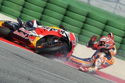 Vídeo: los pilotos de MotoGP con más caídas en la temporada 2018