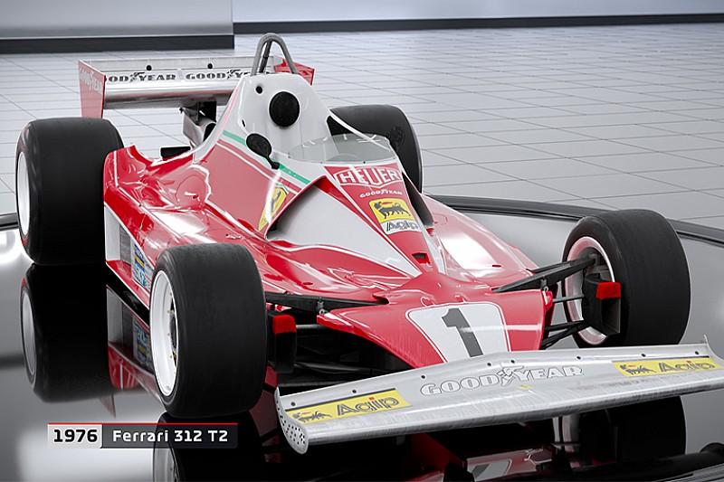 F1 2018 revela lista dos 20 carros clássicos do game