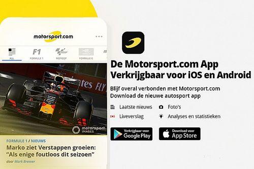 Nieuw: gratis Motorsport.com app! Het snelste racenieuws, altijd en overal