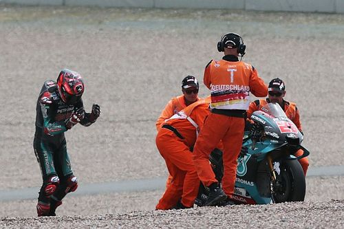 Quartararo: Too much 'hesitation' caused Sachsenring crash
