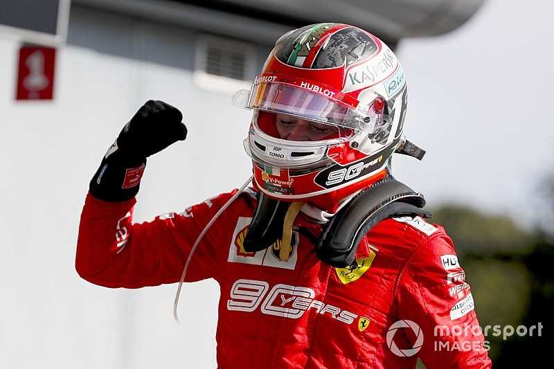 Italian GP: Leclerc fends off Mercedes duo to win