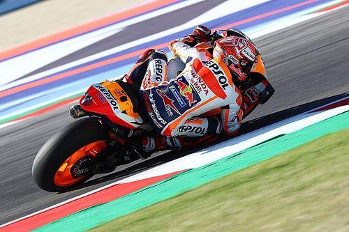MotoGP, Misano, Libere 4: Marquez cade, ma precede le Yamaha