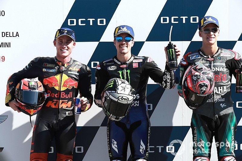 Misano MotoGP: Vinales on pole amid Rossi/Marquez drama