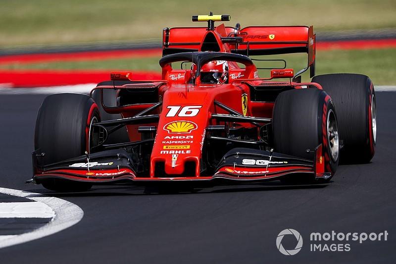 Leclerc lidera dobradinha da Ferrari no 3º treino na Grã-Bretanha