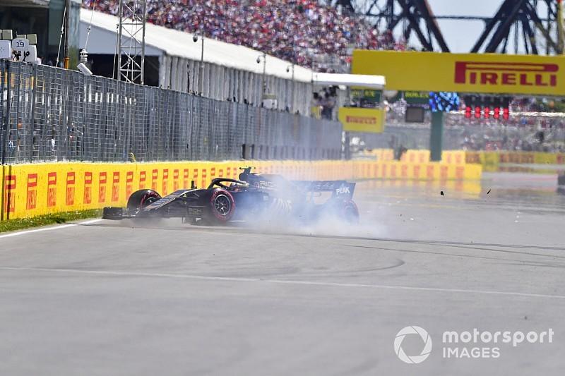 El golpe de Magnussen contra el Muro de los campeones que arruinó a Verstappen