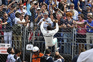 Hamilton thought fence might collapse in pole celebration