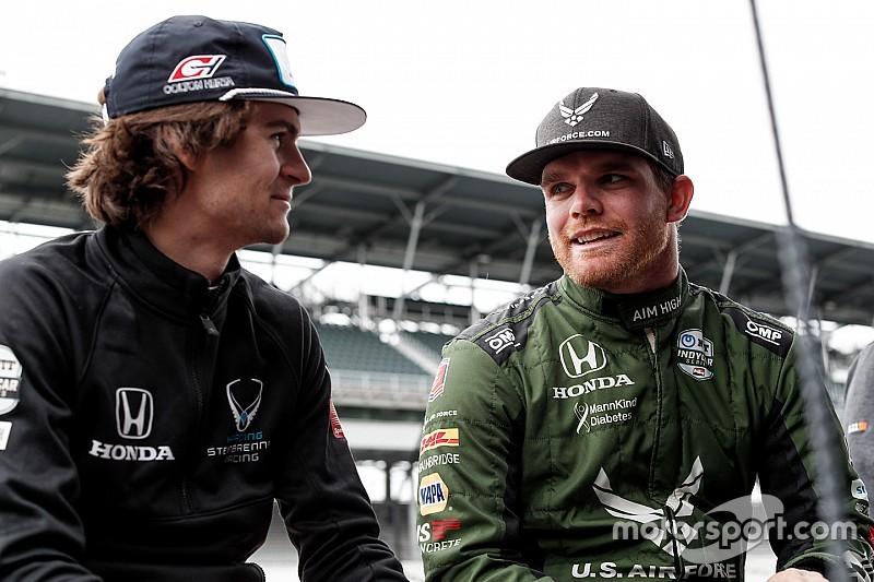 Herta leads rookies, Alonso gets first Indy laps of 2019