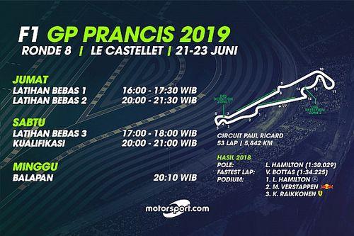 Jadwal lengkap F1 GP Prancis 2019