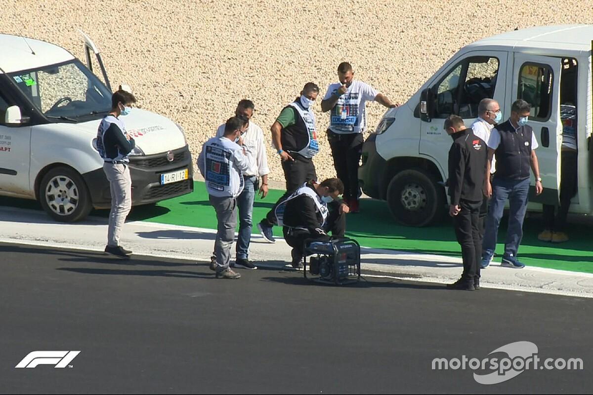 Portekiz GP sıralama seansı yarım saat ertelendi!