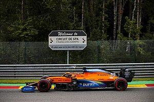 Sainz y McLaren F1, contentos con su rendimiento en Spa