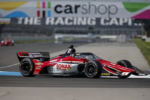 IndyCar GP Indy: VeeKay heads Ganassi pair in warm-up