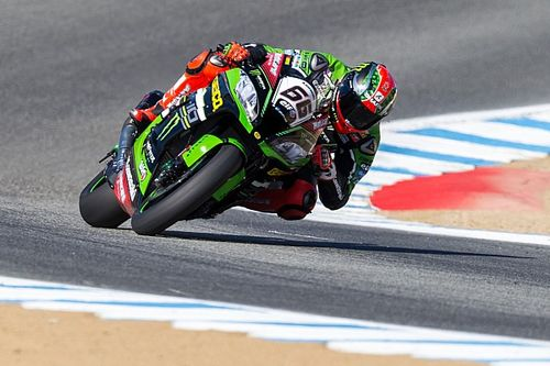 Laguna Seca WSBK: Sykes leads Ducatis in red-flagged race, Rea retires