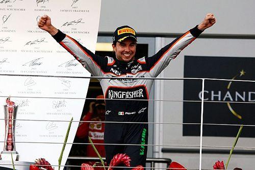 El día que Pérez perdió la primera línea pero acabó en el podio