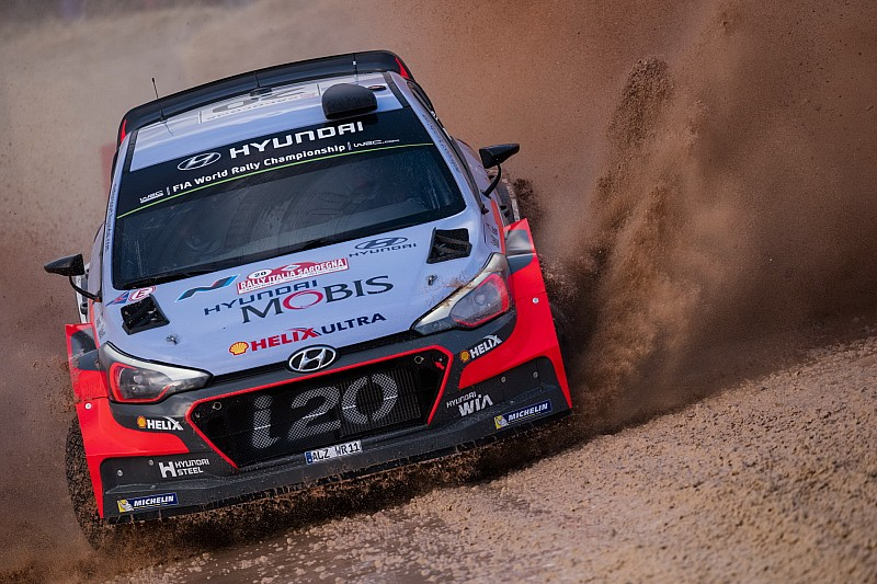 Hyundai Motorsport leads the way on opening day of Rally Italia Sardegna