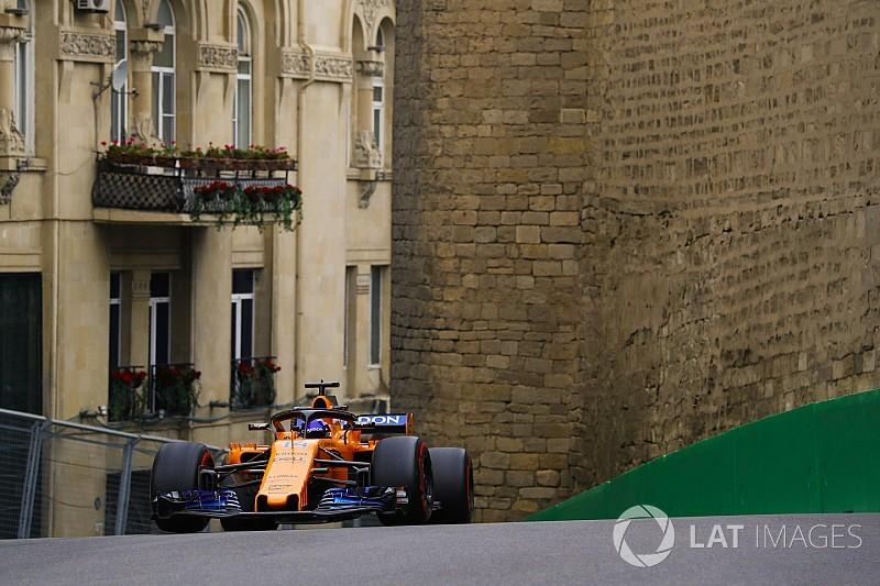 Alonso, feliz con el McLaren pese a la falta de velocidad en Bakú