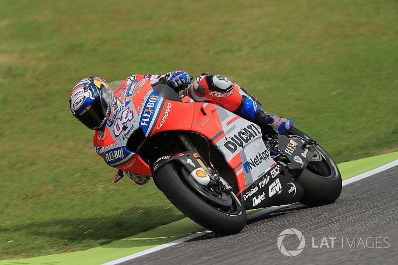 """Dovizioso, """"molesto"""" por los problemas en la práctica de MotoGP"""