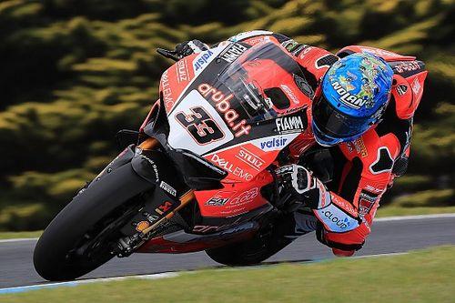 Ducati: Marco Melandri stiehlt Chaz Davies die Show
