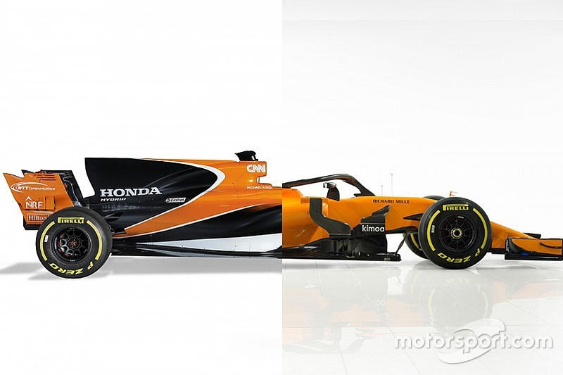 Vergelijk de McLaren MCL33 met de 2017-wagen