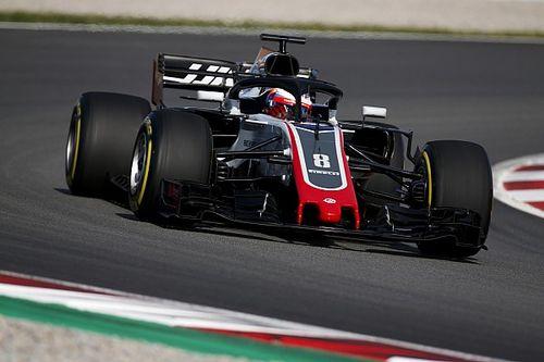 Grosjean meilleur temps de la matinée à Barcelone
