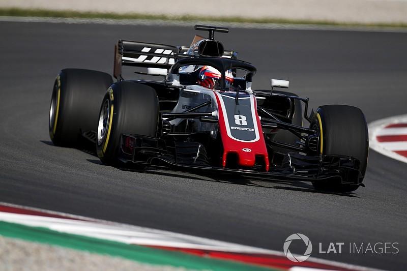 Grosjean, el más rápido en la primera mañana de test en Barcelona