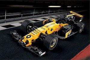 Геймер проехал на машине Формулы 1 по виртуальной трассе из Lego