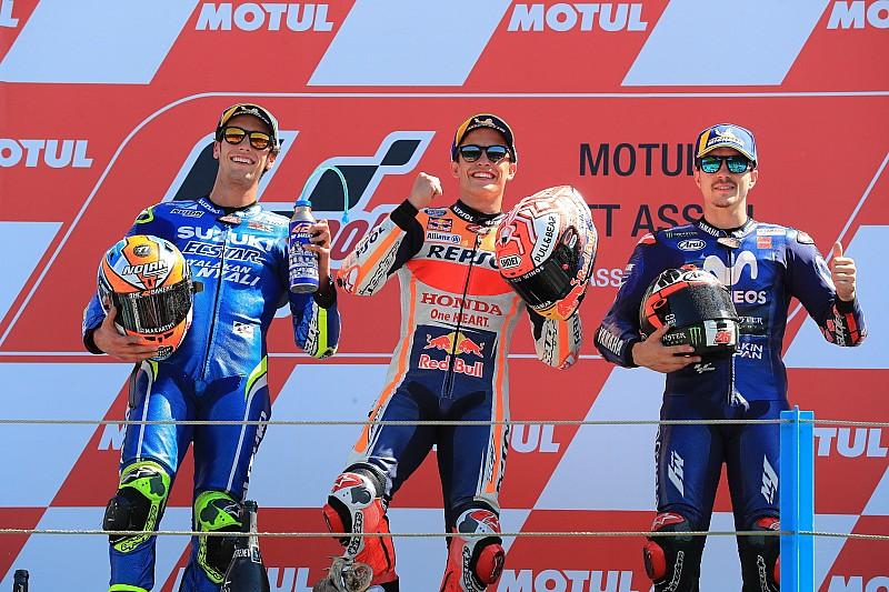 Por primera vez, Márquez fue el piloto de mayor edad en el podio