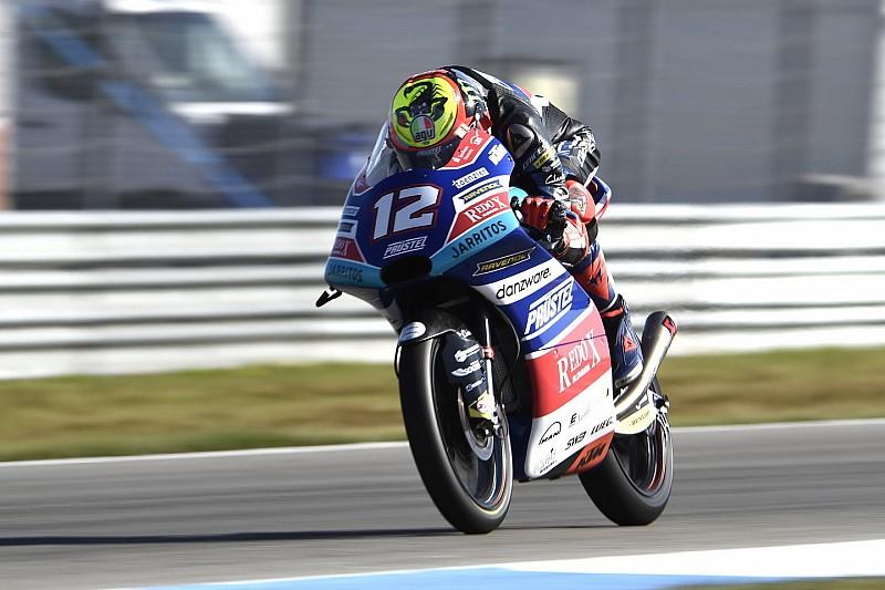Moto3 Assen: Bezzecchi aan de leiding in derde training