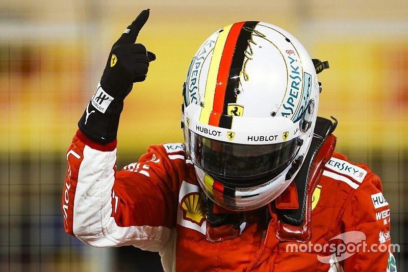 Vettel egy drámai nagydíjat nyert meg Bahreinben a Ferrarival, és magabiztosan vezette a bajnokságot