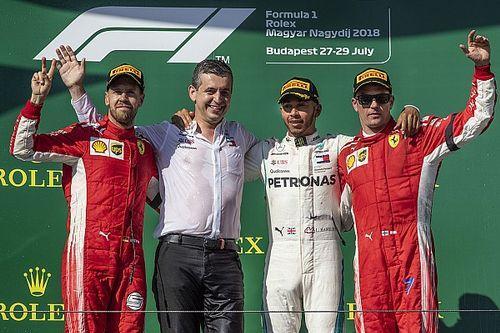 匈牙利大奖赛:汉密尔顿完美获胜,法拉利双雄双登领奖台
