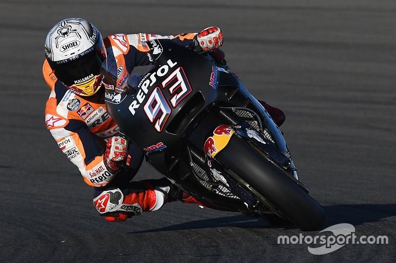 Marquez op kop tijdens laatste MotoGP-testdag Valencia