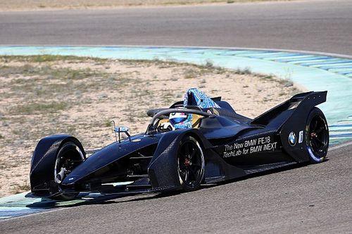 Bruno Spengler tests the new BMW iFE.18 Formula E car